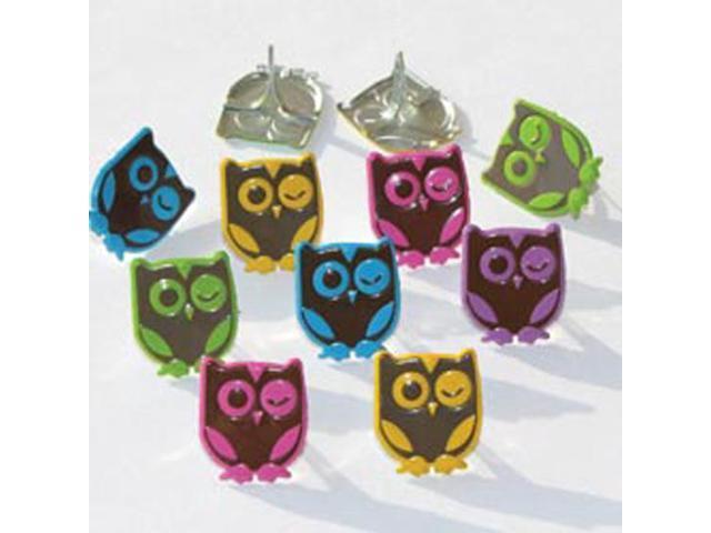 Eyelet Outlet Brads-Winking Owl - Bright 12/Pkg