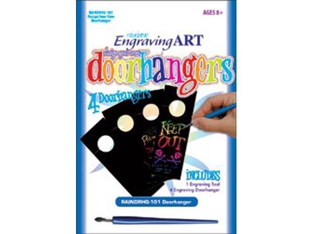 Rainbow Engraving Art Door Hangers-