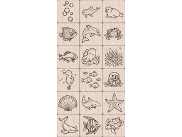 Hero Arts Ink 'n Stamp Tub-Sea Life