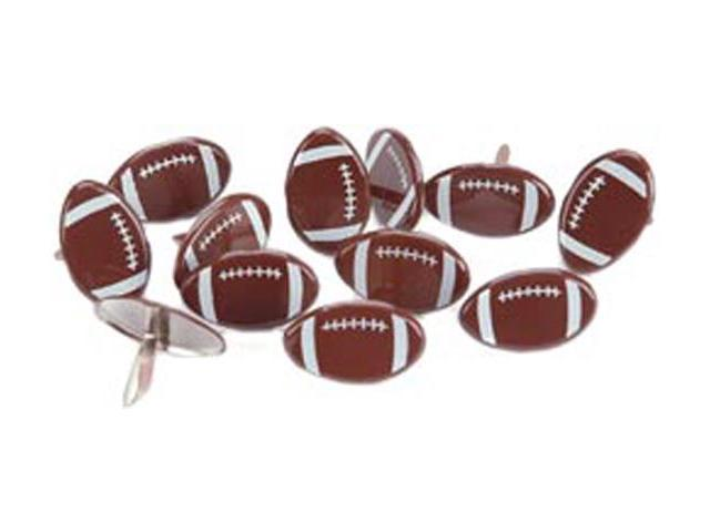 Eyelet Outlet Brads-Football 12/Pkg