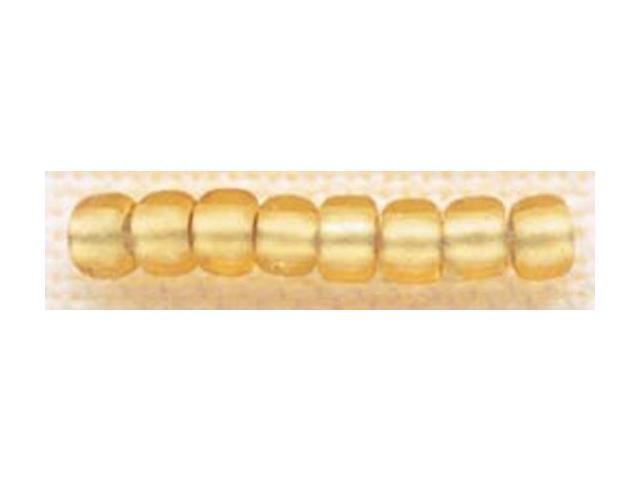 Mill Hill Glass Beads Size 6/0 4mm 5.2 Grams/Pkg-Frosted Gold