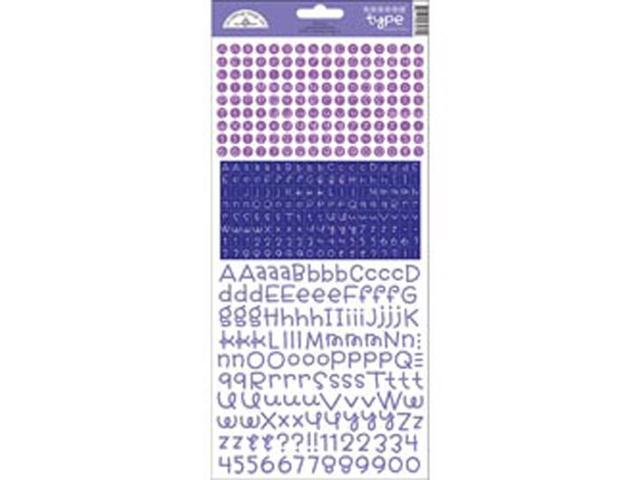 Teensy Type Cardstock Alphabet Stickers-Lilac