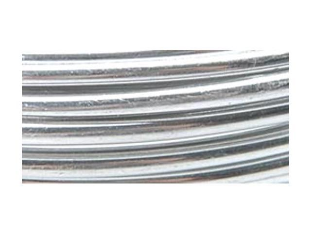 Coiled Aluminum Floral Wire 12 Gauge 5yd-Silver
