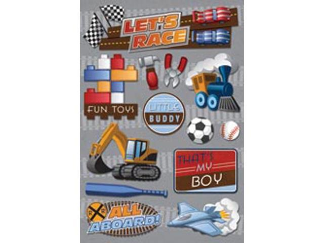 Little Boy Cardstock Stickers 5.5