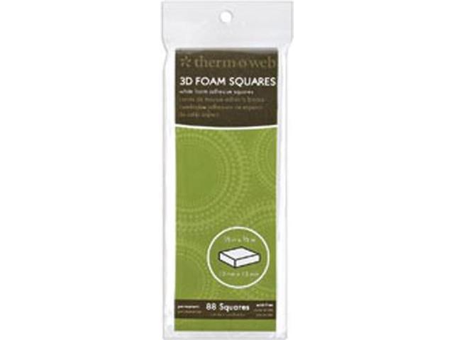 3D Foam Squares 88/Pkg-White .5