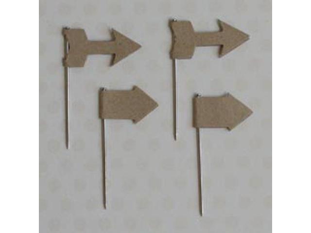 Vintage Trinket Pins 20/Pkg-Kraft Arrows