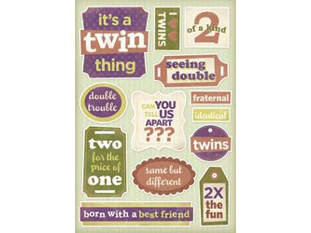 Twins Cardstock Stickers 5.5