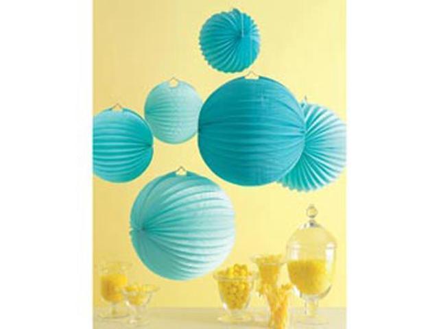Accordion Paper Lanterns Makes 6-Blue