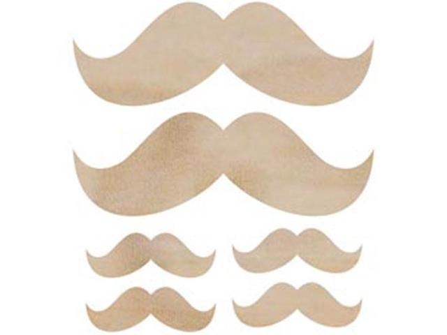 Wood Flourishes 6/Pkg-Moustache