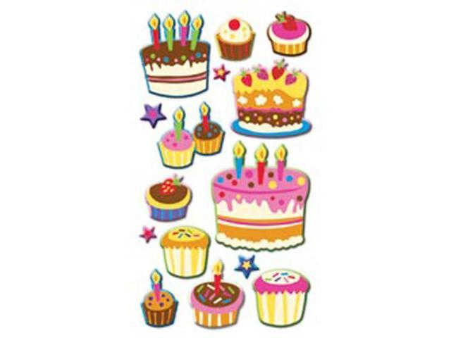 Puffy Dimensional Stickers-Cake & Cupcakes