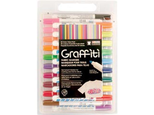 Graffiti Fabric Marker Value Set 30/Pkg-