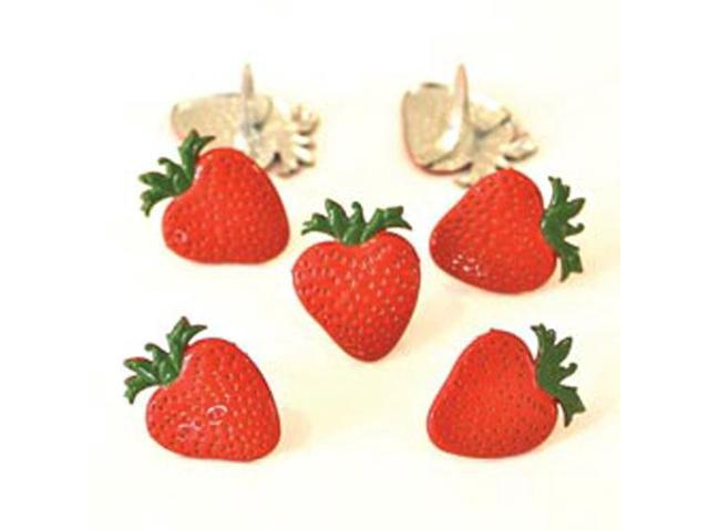 Eyelet Outlet Brads-Strawberry 12/Pkg