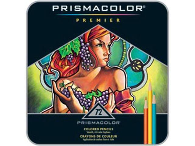 Prismacolor Premier Colored Pencil Set 72/Tin-W/Two Bonus Artstix & Sharpener