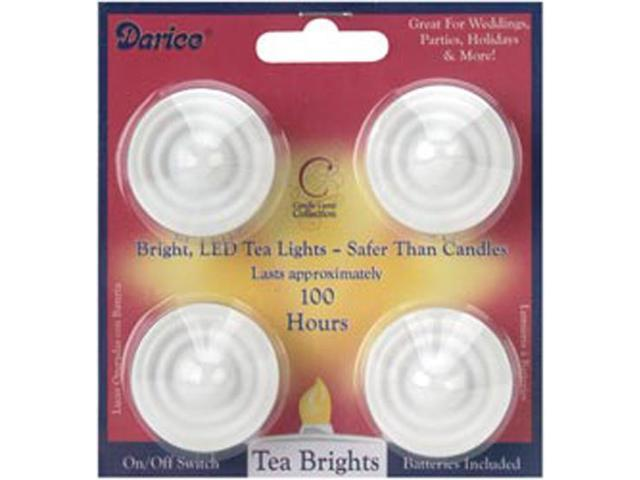 LED Tea Lights 4/Pkg-White