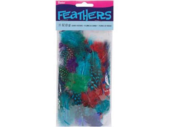 Feathers 3 Grams-Guinea Bright Assorted