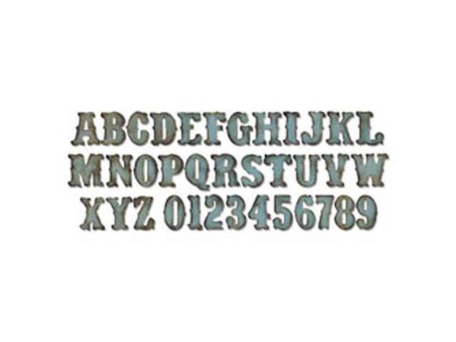 Sizzix Bigz XL Alphabet Die By Tim Holtz-Vintage Market Alphabet