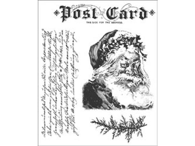 Tim Holtz Cling Rubber Stamp Set-Letters To Santa