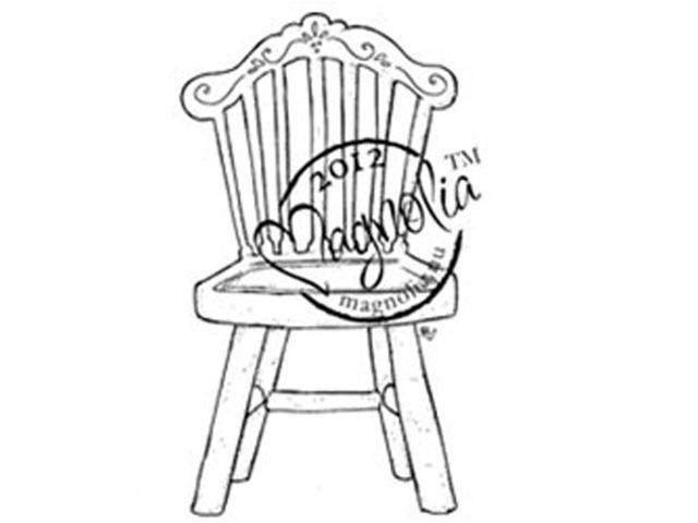Turning Leaves Cling Stamp-Old Swedish Chair