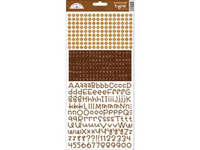 Teensy Type Cardstock Alphabet Stickers-Bon Bon