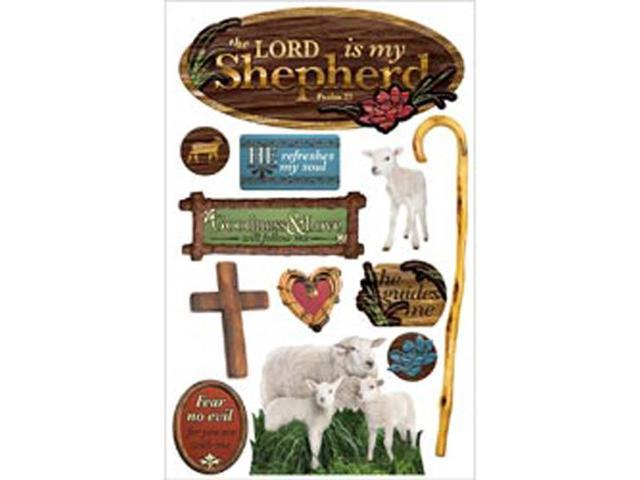 Paper House 3-D Sticker-Lord Is My Shepherd