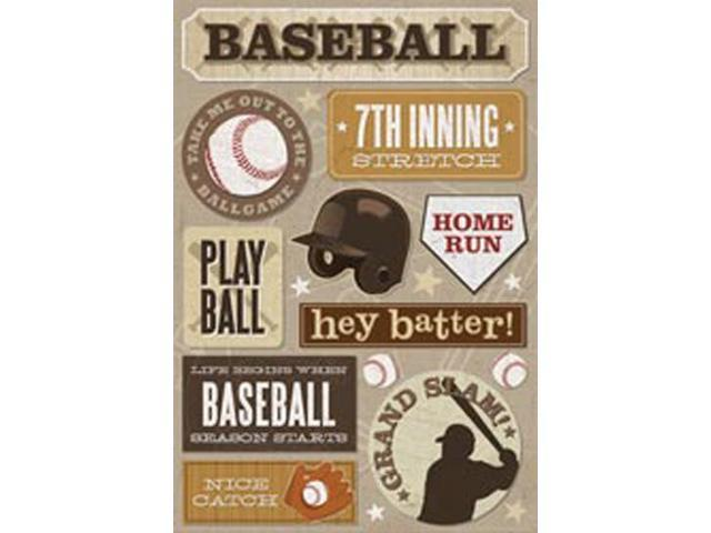 Baseball Cardstock Stickers 5.5