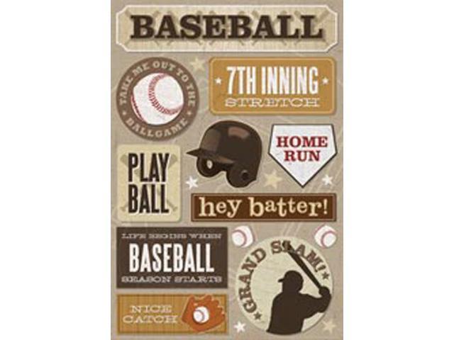 Baseball Cardstock Stickers 5.5