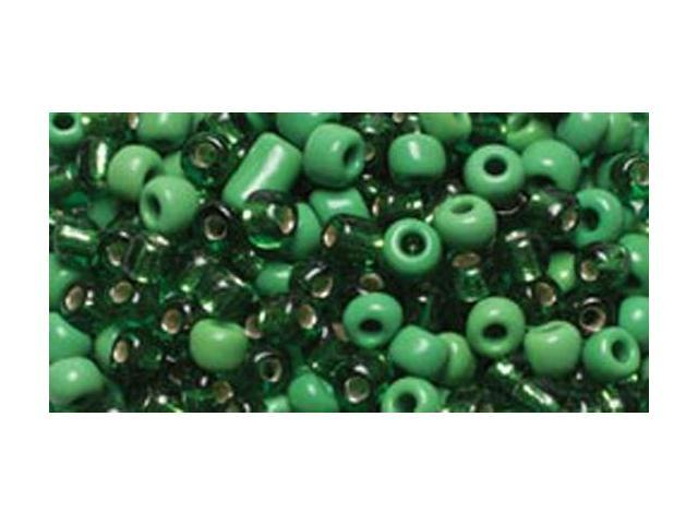 Jewelry Basics Glass Seed Beads 1.1oz-6/0 Assorted Green E-Beads
