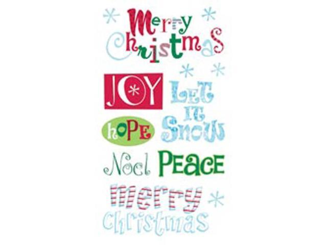 Sticko Christmas Stickers-Merry Christmas Clear