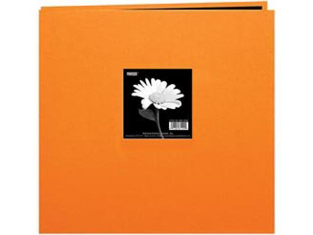 "Book Cloth Cover Postbound Album With Window 12""X12""-Orange"