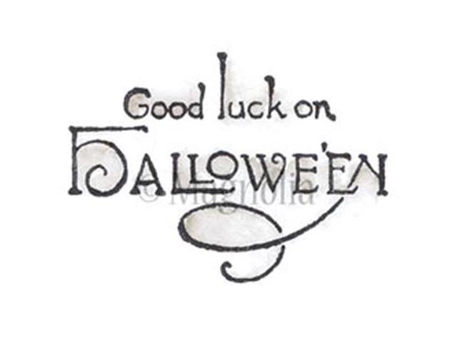 So Spooky Cling Stamp-Good Luck On Halloween