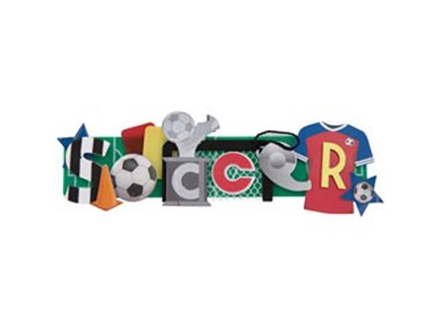 Soccer Stacked Statement 3-D Title Sticker-