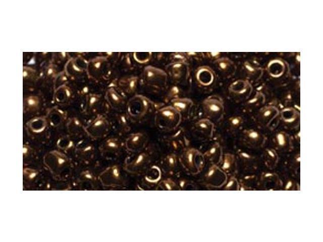Jewelry Basics Glass Seed Beads 1.1oz-6/0 Metallic Brown E-Beads