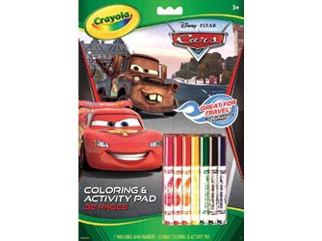 Coloring & Activity Pad With Markers-CARS 2