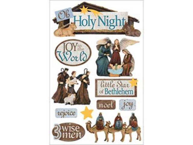 Paper House 3-D Sticker-Holy Night