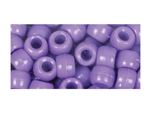 Fun Pack Acrylic Pony Beads 250/Pkg-Purple