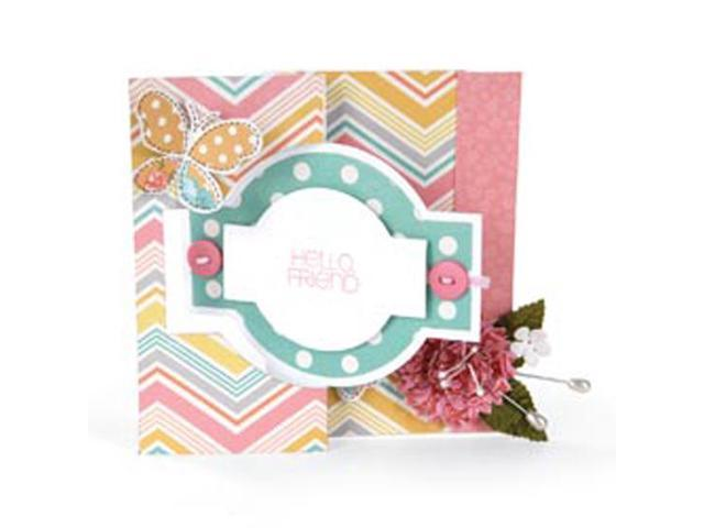 Sizzix Movers & Shapers Large Base Die-Card; Ornate 2 Flip-Its