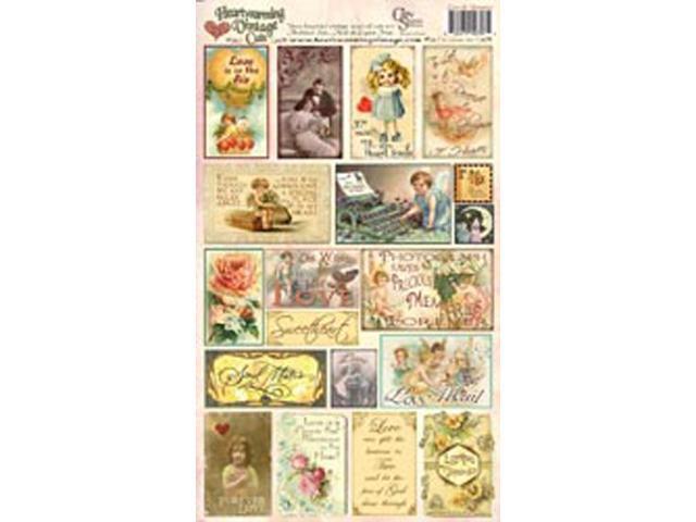"Creative Scraps Heartwarming Vintage Cuts 7""X12"" Sheet-Love & Romance"