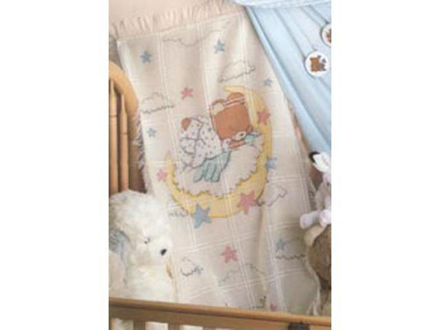 Sleeping Teddy Bear Baby Afghan Counted Cross Stitch Kit-29