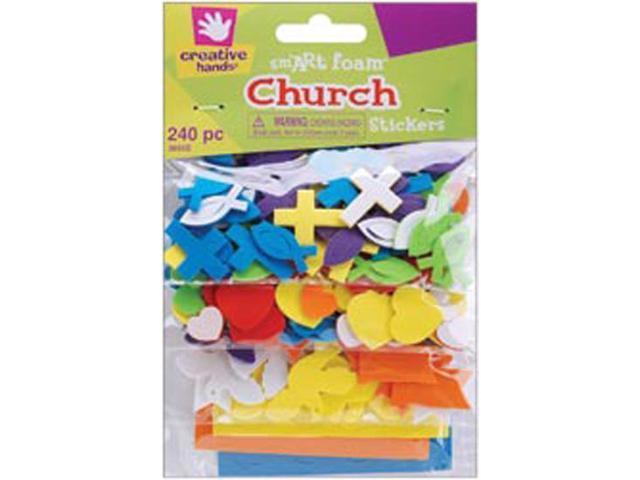 Foam Stickers 240/Pkg-Mini Church