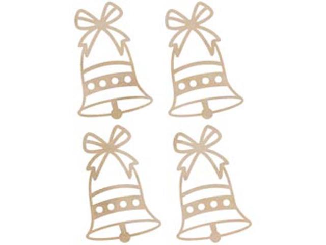Wood Flourishes-Mini Bells 4/Pkg