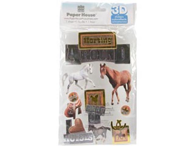 Horsing Around 3-D Stickers-
