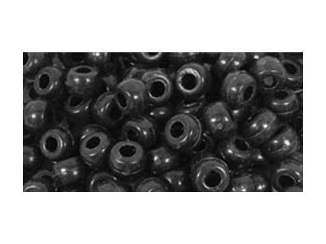 Barrel Pony Beads 6mmX9mm 175/Pkg-Black