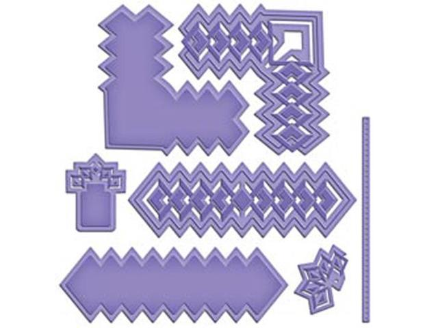Spellbinders Shapeabilities Cut; Fold & Tuck Die-Diamond Strips And Accents