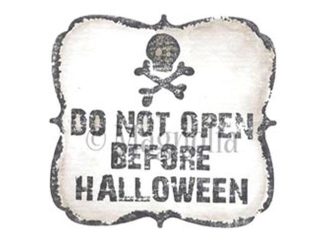 So Spooky Cling Stamp-Do Not Open