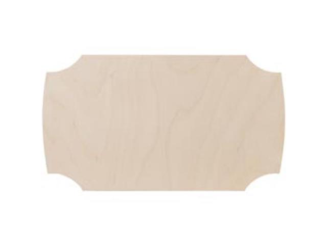 Unfinished Wood Baltic Birch Plaque 1/Pkg-Contemporary 6.5