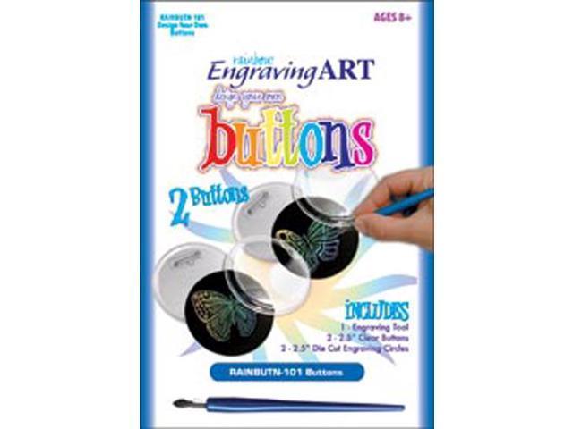 Rainbow Engraving Art Buttons-
