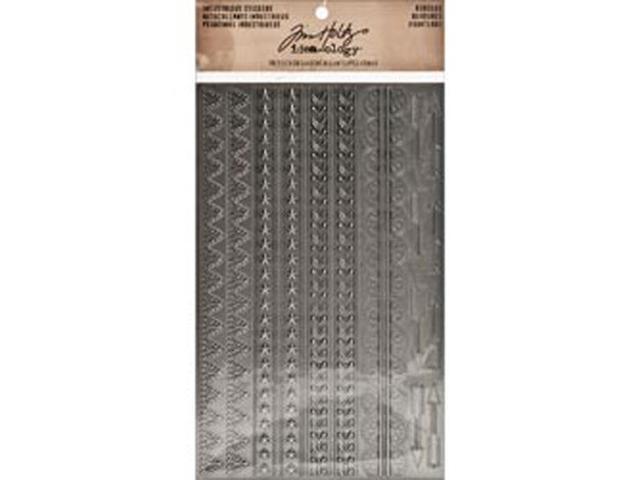 Idea-Ology Industrious Stickers-Metallic Borders