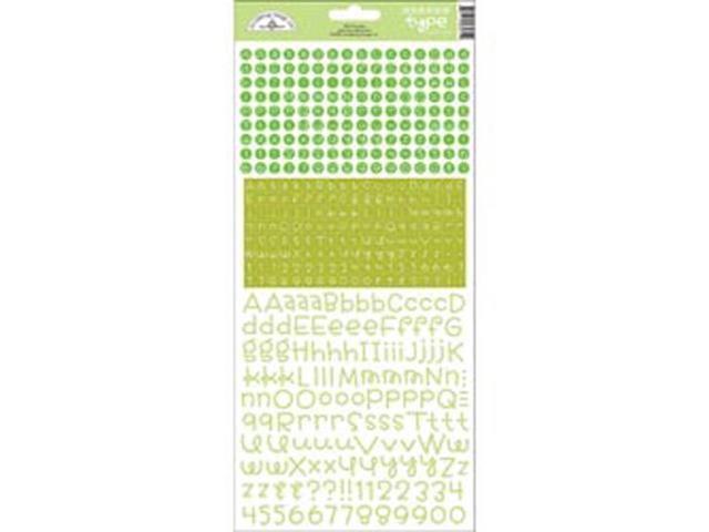 Teensy Type Cardstock Alphabet Stickers-Limeade