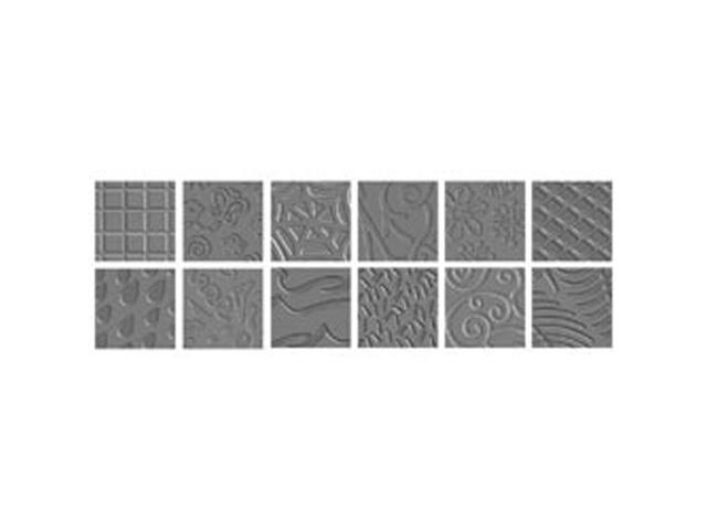 Texture Plate Double-Sided Assortment II 6/Pkg-12 Designs