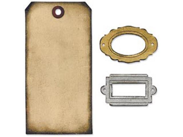 Sizzix Movers & Shapers Base Die By Tim Holtz-Tag & Bookplates
